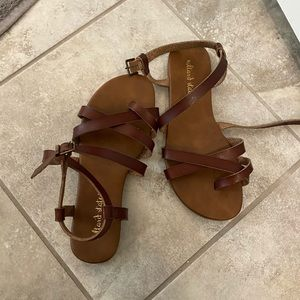 Altar'd State brown leather sandals